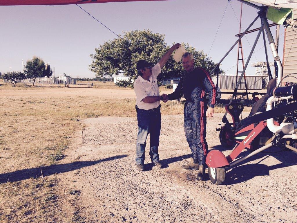 francois first solo flight flying school